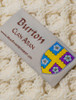 Burton Clan Aran Throw - Label