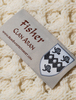 Fisher Clan Aran Poncho - Label