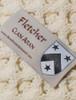 Fletcher Clan Aran Throw - Label
