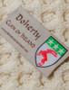 Doherty Clan Aran Poncho - Label