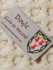 Doyle Clan Aran Poncho - Label