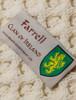 Farrell Clan Aran Poncho - Label