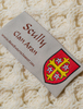 Scully Clan Aran Poncho - Label