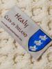 Healy Clan Aran Poncho - Label