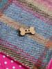 Tweed Doggy Neckerchief Bandana -Pink & Blue Plaid