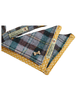Tweed Doggy Neckerchief Bandana -Yellow & Green Plaid