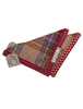 Tweed Doggy Neckerchief Bandana - Burgandy Paid