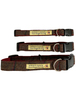 Tweed Dog Collar Plastic Buckle - Brown & Red Plaid