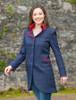Sinead Tweed Coat - Primary Navy