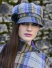Ladies Tweed Newsboy Hat - Mustard & Charcoal Plaid