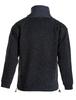 Men's Aran Diamond Draw-String Sweater - Charcoal Back