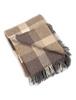 Luxury Cashmere Wool Throw - Beige & Cream Check