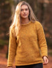 Ladies Roll Neck Sweater - Gold