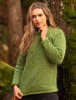 Ladies Roll Neck Sweater - Lime Green