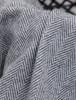 Wool and Cashmere Throw - Grey & White Herringbone