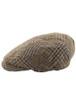 Kerry Tweed Flat Cap - Brown Mix