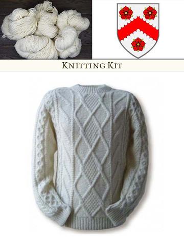 White Knitting Kit