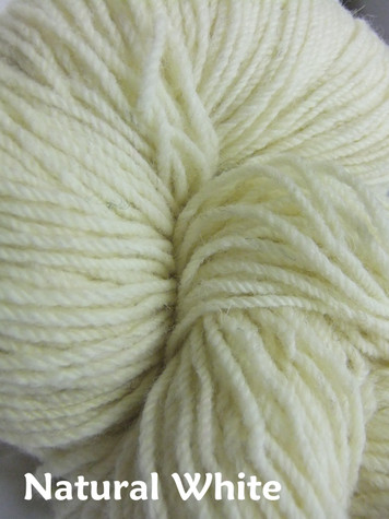 Aran Wool Knitting Hanks - Natural White