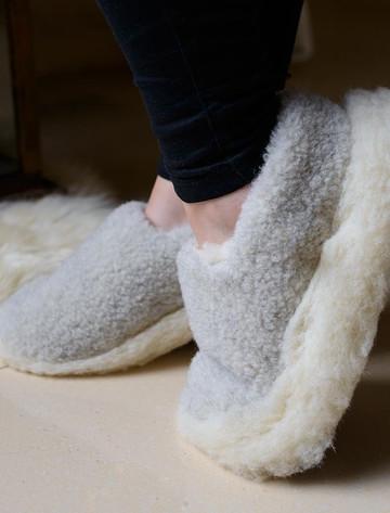 Merino Wool Slipper - Grey