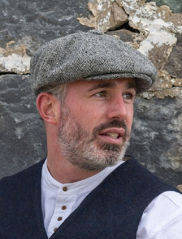 Donegal Tweed Men's Driving Cap - Silver