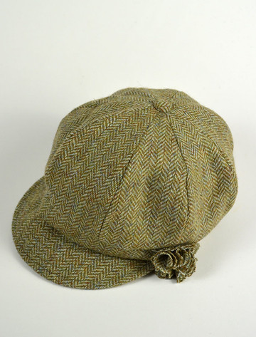 Ladies Shannon Newsboy Hat - Jade