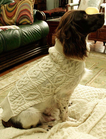 Aran Dog Coat - Natural White