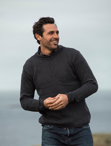 Merino Roll Neck Sweater- Derby