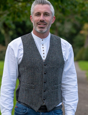 Donegal Tweed Waistcoat - Charcoal