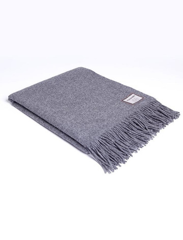 Lambswool Throw - Solid Grey
