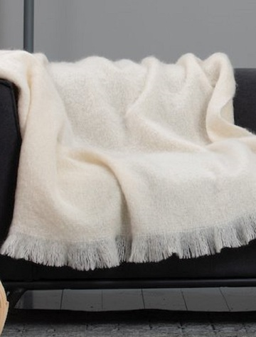 Mohair Throw - White