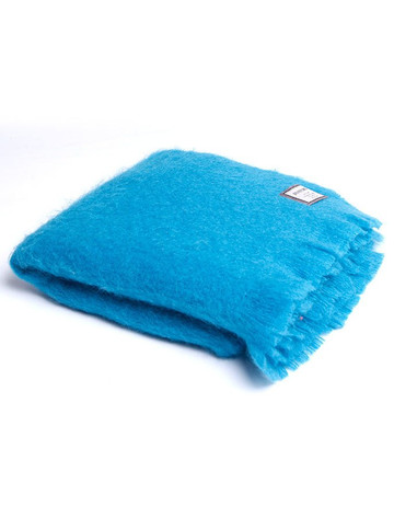 Mohair Throw - Kingfisher