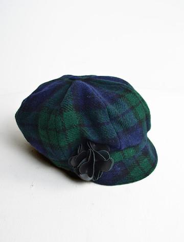 Ladies Tweed Newsboy Hat - Blackwatch