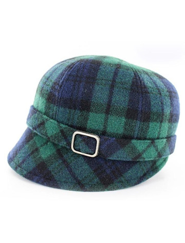Ladies Tweed Flapper Cap - Blackwatch