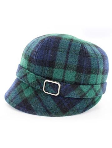 Ladies Tweed Flapper Cap - Blackwatch