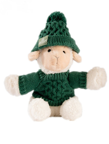 Small Sheep In Aran Sweater & Bobble Hat