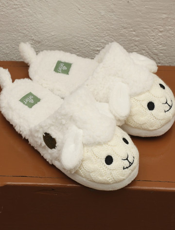 Kid's Aran Sheep Slip-On Slippers