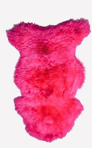 Irish Sheepskin Rug - Pink