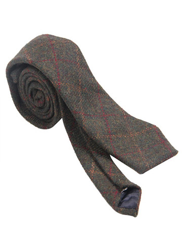 Tweed Neck Tie- Green Box Check