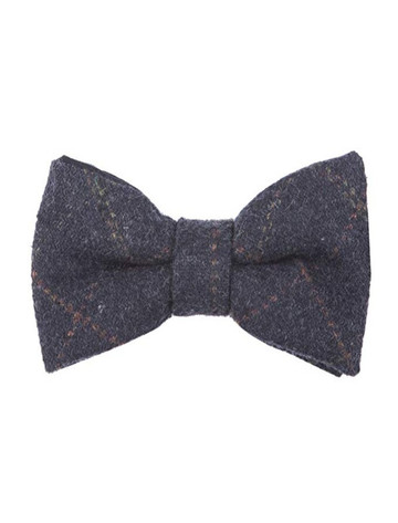 Tweed Bow Tie - Blue Box Check