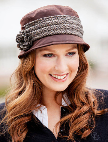 Kate Waxed Hat - Brown