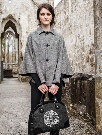 Celtic Tote Bag - Black with Silver