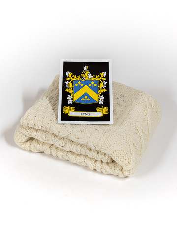 Lynch Clan Aran Baby Blanket
