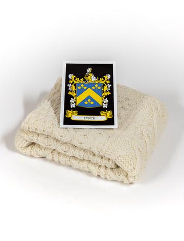 Lynch Clan Aran Baby Blanket
