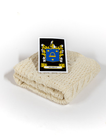 Murray Clan Aran Baby Blanket
