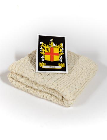 Burke Clan Aran Baby Blanket