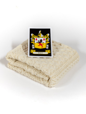 Daly Clan Aran Baby Blanket