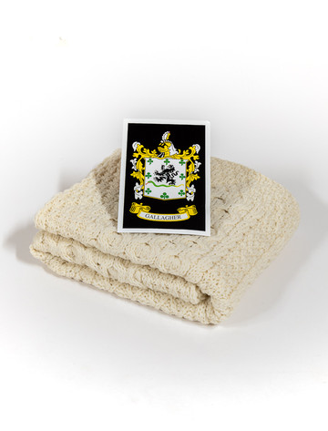 Gallagher Clan Aran Baby Blanket