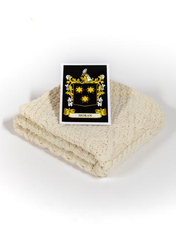 Moran Clan Aran Baby Blanket