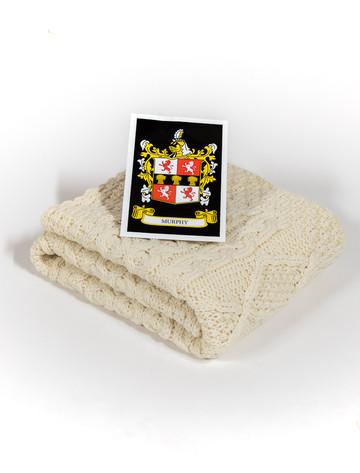 Murphy Clan Aran Baby Blanket