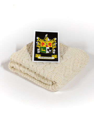 O'Sullivan Clan Aran Baby Blanket